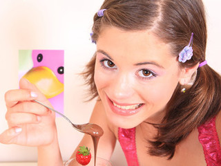 Very tiny beauty Caprice gets overspread with chocolate added to touches her miniature snatch